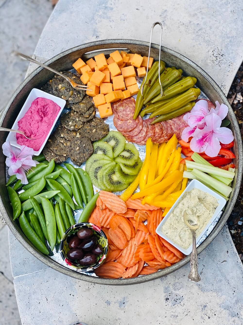 healthy appetizer tray