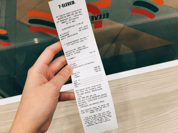 7Eleven Coins.ph Receipt