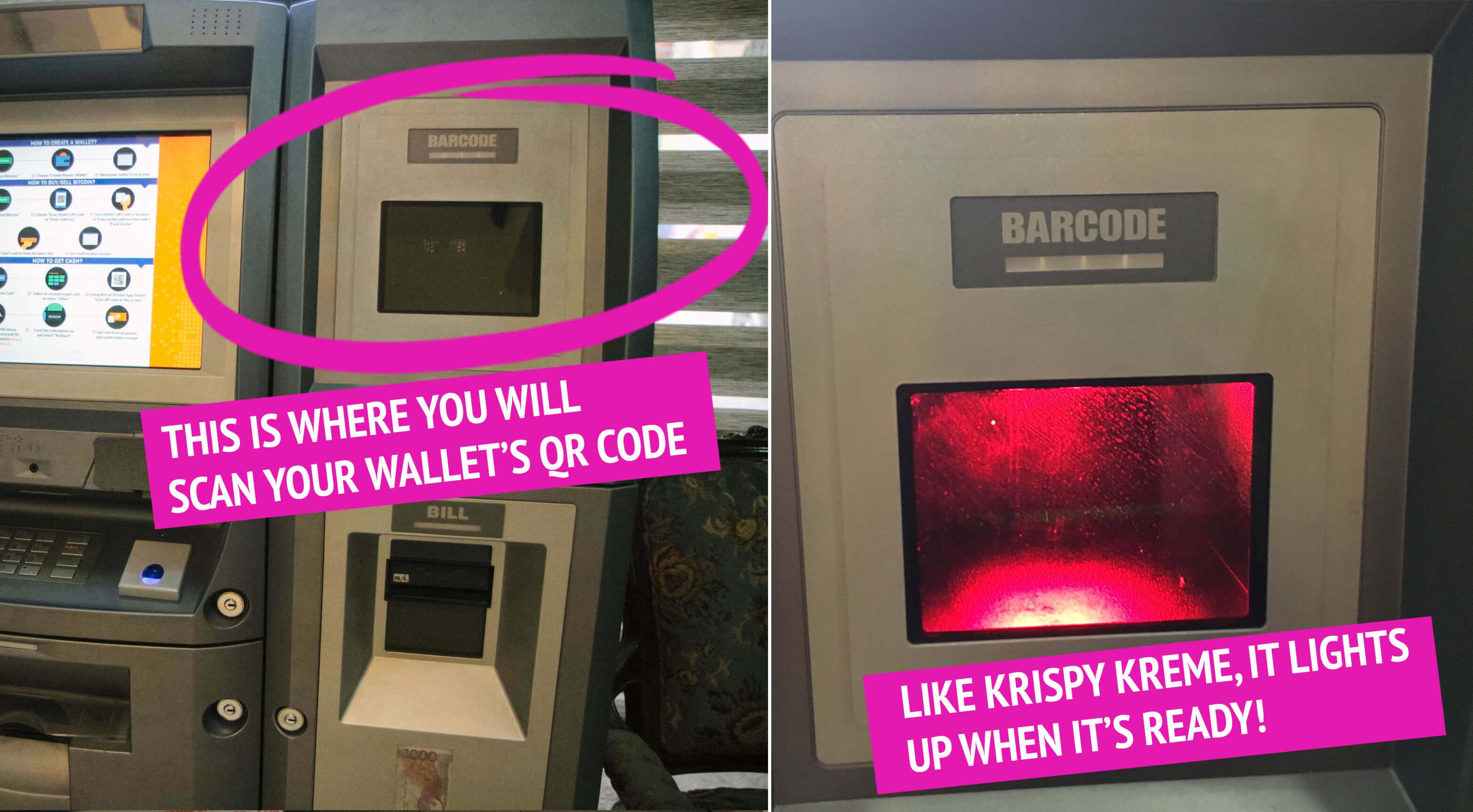 Scan QR Code Bitcoin ATM - A Pensive Peanut