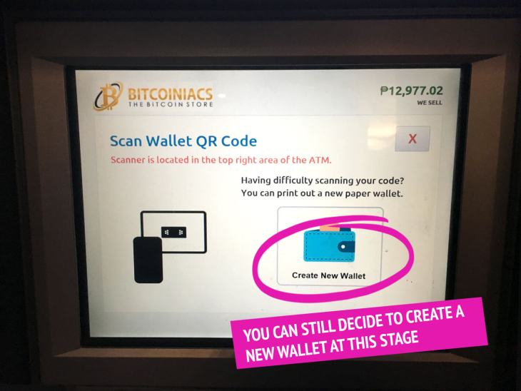 Scan Wallet or Create One Bitcoin ATM