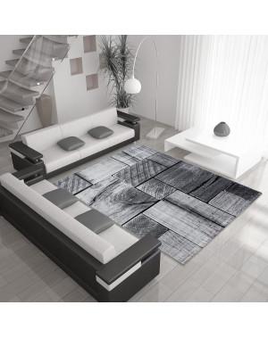 moderne salon tapis avec effet bois parme noir gris