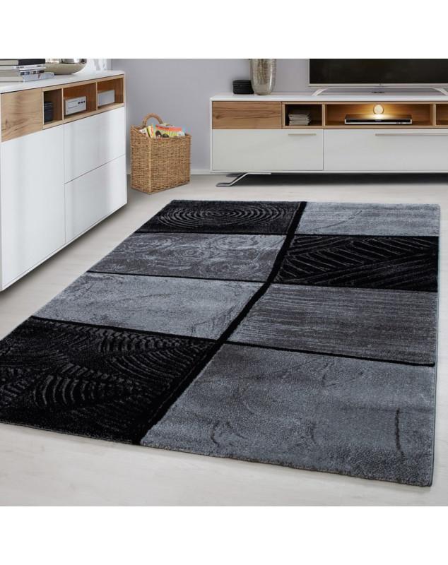 moderne salon tapis lima grey taille 80x150 cm