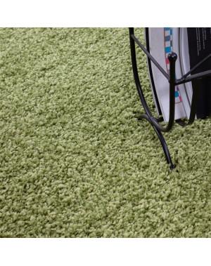 structure a fibres longues salon tapis shaggy 3cm hauteur de la pile unifarbe vert