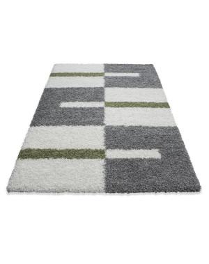 structure a fibres longues salon shaggy tapis de parement 3cm gris blanc vert