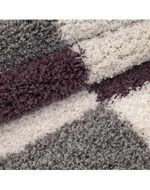 structure a fibres longues salon shaggy tapis de parement 3cm gris blanc violet