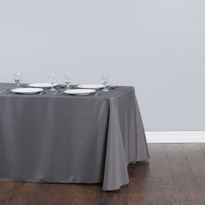Grey tablecloth