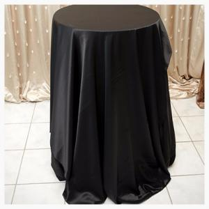 Black Satin tablecloth