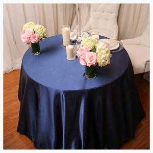 Navy Satin tablecloth
