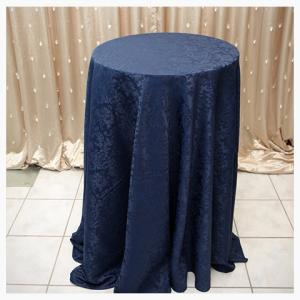 Navy Damask tablecloth