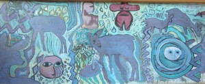 """Spirits and Forces in Nature Oil on Board 42""""x 15"""" $1450"""