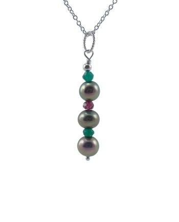 Pendants archives pearl jewelry expert designer pearl pendant garnet green quartz aloadofball Gallery