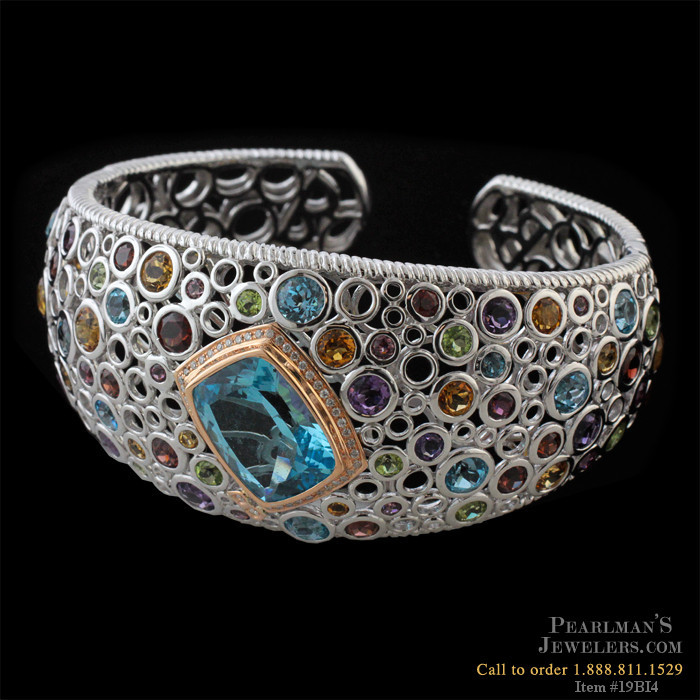 Bellarri Jewelry Multi Color Gemstone Blue Topaz