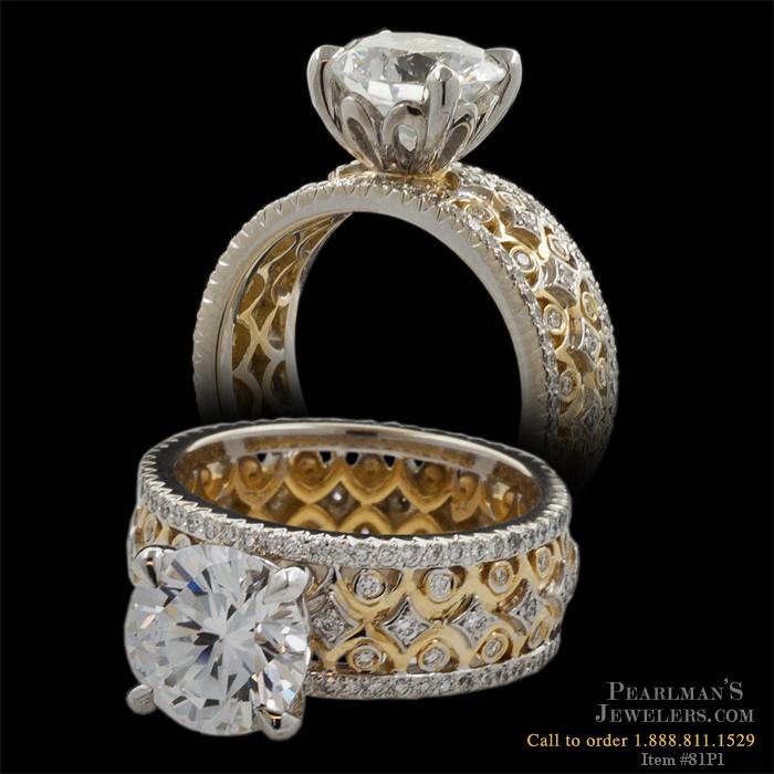 Michael B Jewelry Diamond Yellow Gold Wedding Band