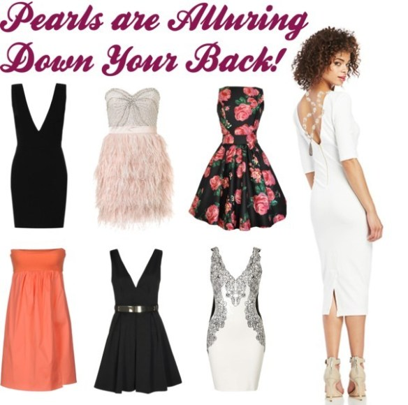 Pearls are Alluring Down the Back!