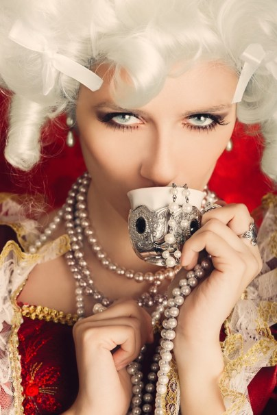 baroque pearls woman portrait