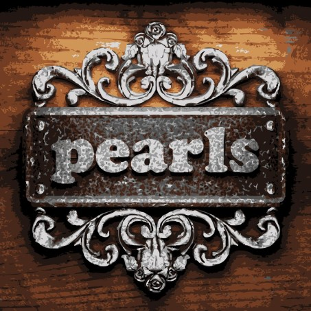 pearls vector precious stones sign