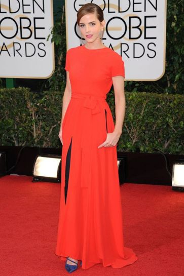 Emma Watson wearing real pearl earrings