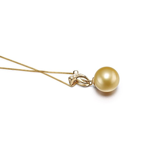 pearl pendant necklace with gold chain