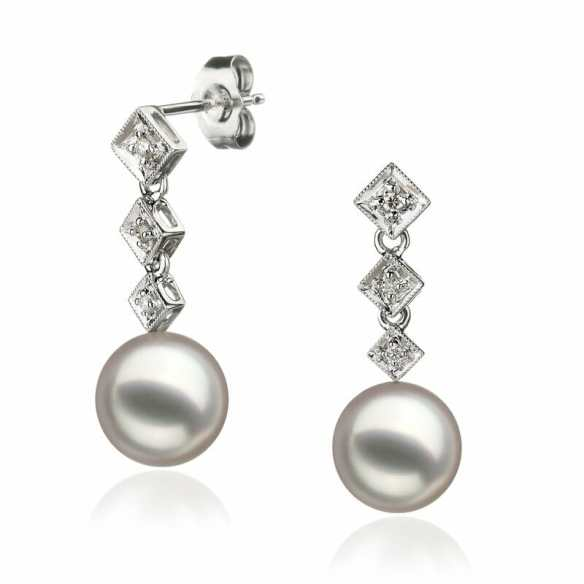 3608eceb4b01d Exquisite Pearl and Diamond Earrings - Pearls Only Canada