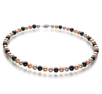pearl jewelry necklace black and gold
