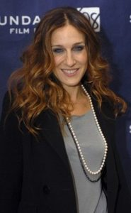 sarah jessica parker wearing pearls