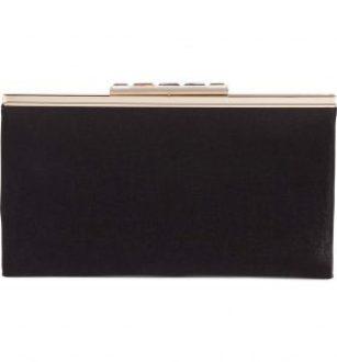 black accessories black clutch