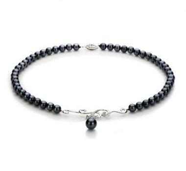 black Japanese Akoya pearl necklace