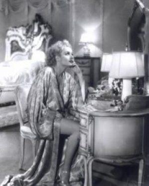 old hollywood astar in silk robe