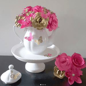tea party flower decorations