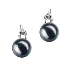 japanese akoya black pearl earrings