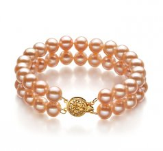 double strand pink pearl bracelets
