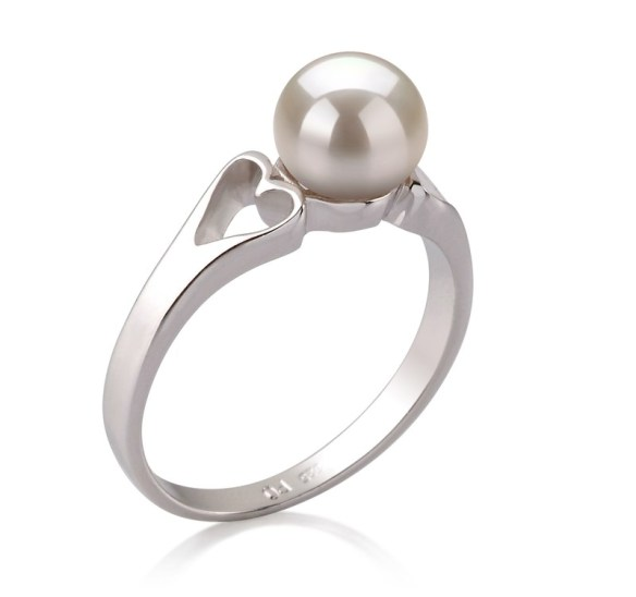 pearl rings with single stone