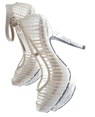 pearl wedding sandals