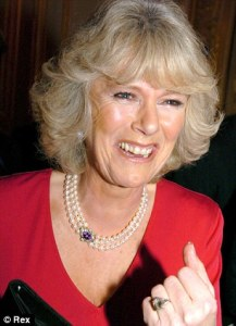 Duchess of Cornwall wearing a 3 strand pearl necklace