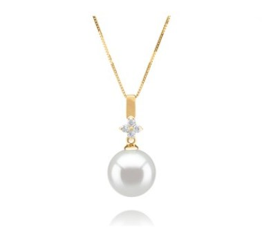 white pearl color - pearl pendant