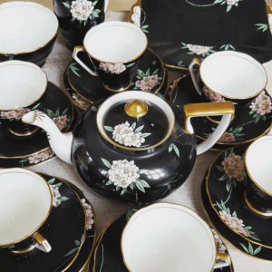 tea party porcelain cups