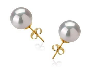 white south sea pearl earrings studs