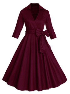 burgundi vintage dress