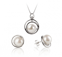 freshwater pearl earrings with diamonds