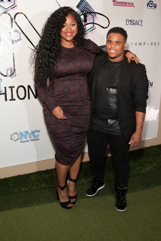 Tyron Perrin of Marquette Collection and Jazmine Sullivan