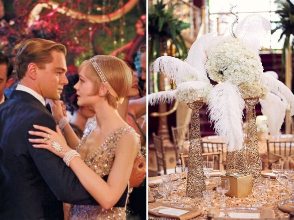 The Great Gatsby pearl wedding theme