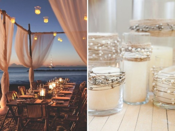 beach and seaside pearl wedding theme