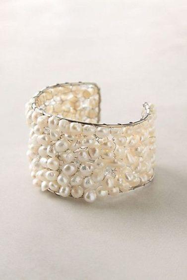 cuff pearl bracelet