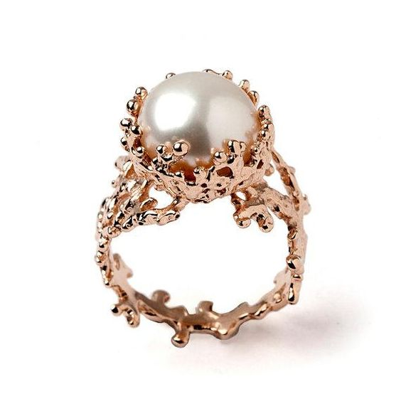 unconventional pearl wedding ring