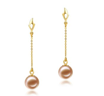 pearl drop earrings with gold