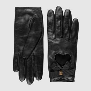 back to black - black leather gloves