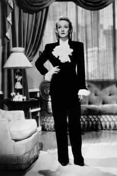 marlene dietrich wearing a pantsuit