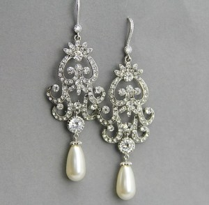 drop pearl earrings with diamonds