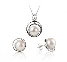 freshwater pearl earrings with diamonds