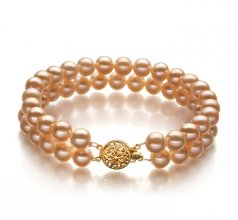 pink pearl bracelet in lee pink